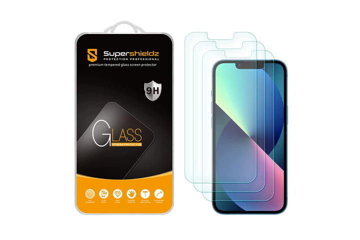 Supershieldz Tempered Glass Screen Protector for iPhone 13.