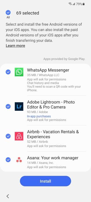 Whatsapp installation on Android