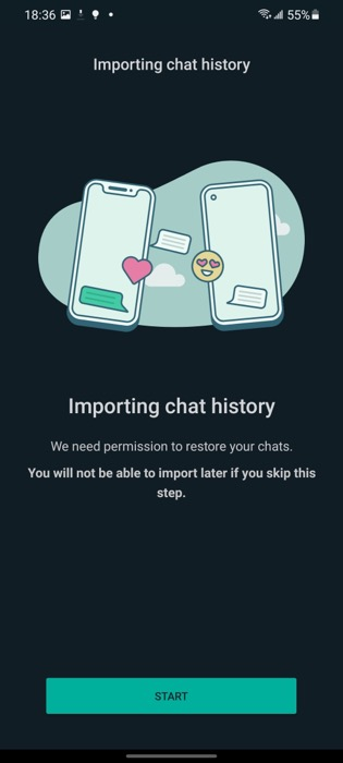 Import chat history from iPhone