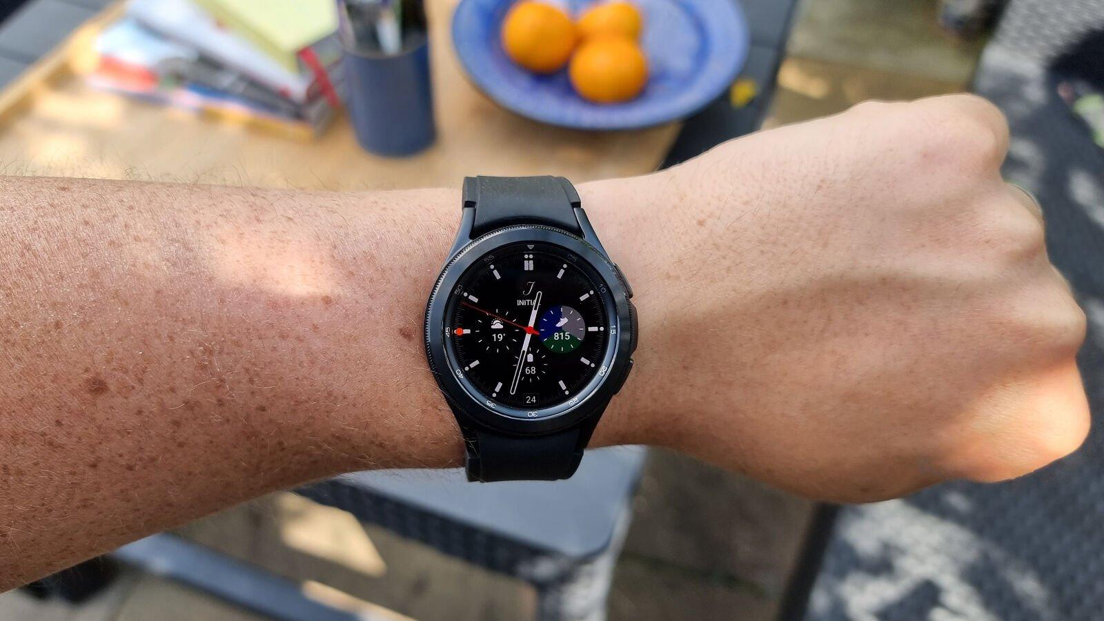 Samsung Galaxy Watch 4 Classic on wrist