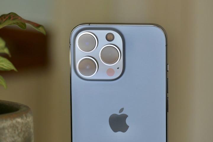 The iPhone 13 Pro's camera module.