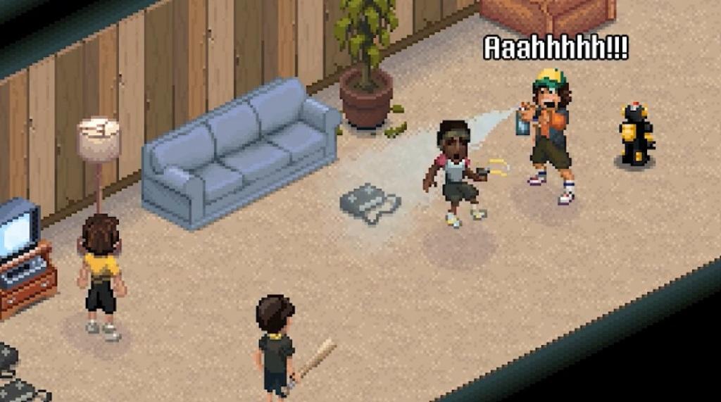 Scene from Stranger Things 3: The Game.