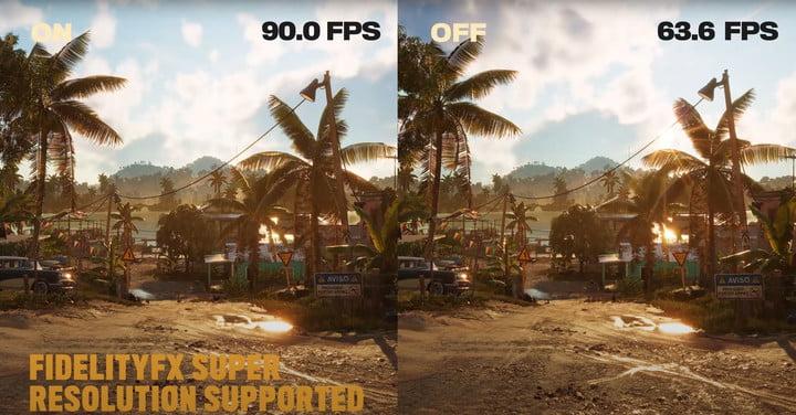 Far Cry 6 performance metrics using AMD FSR.