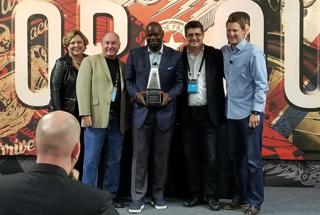 Zipit was honored with the Strategic IoT Product Award at the AT&T Partner Exchange 2017. (Photo/Provided)