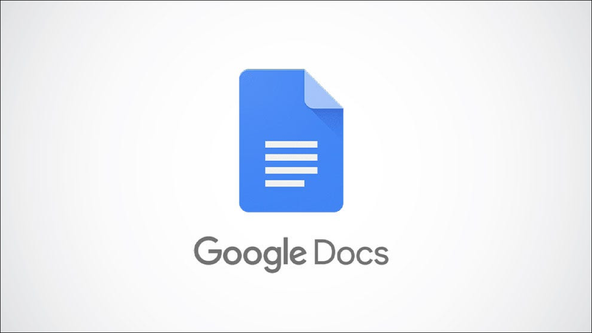 Google Docs logo on a gray background