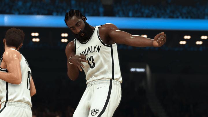 James Harden of the Brooklyn Nets in NBA 2K22.
