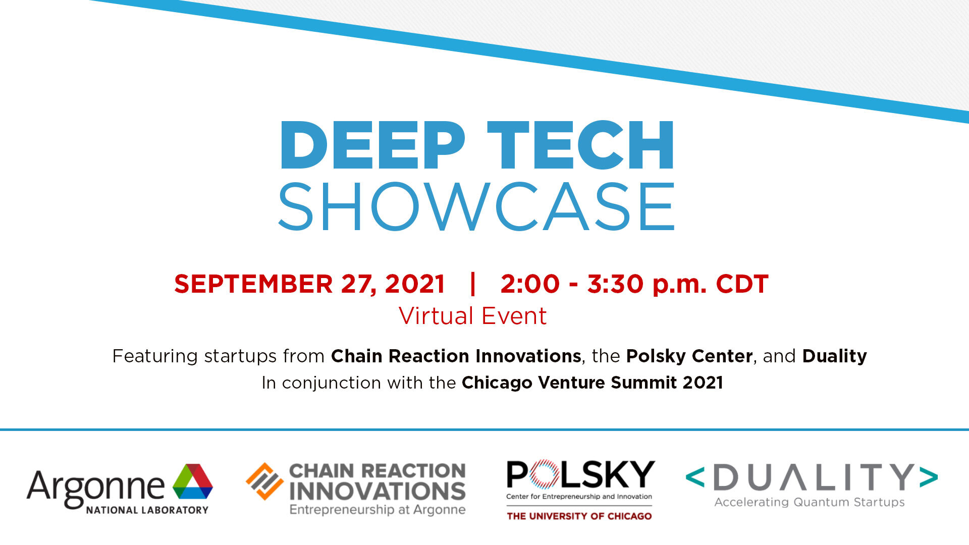 Chicago Venture Summit Deep Tech Showcase