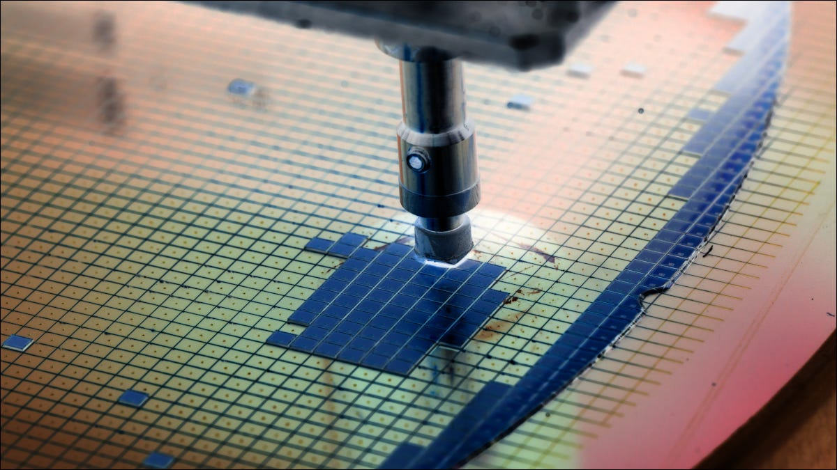Semiconductors being manufactured