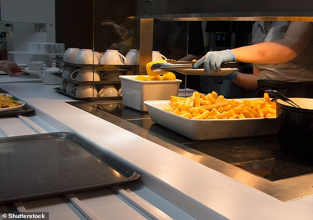 Workplace cafeterias can cut portion sizes to help stop obesity, the study from University of Cambridge researchers suggests
