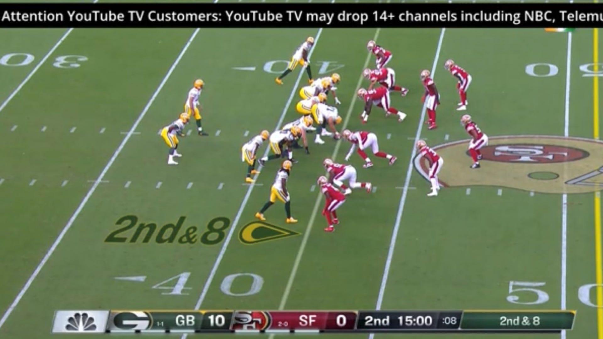 NBC YouTube TV disclaimer
