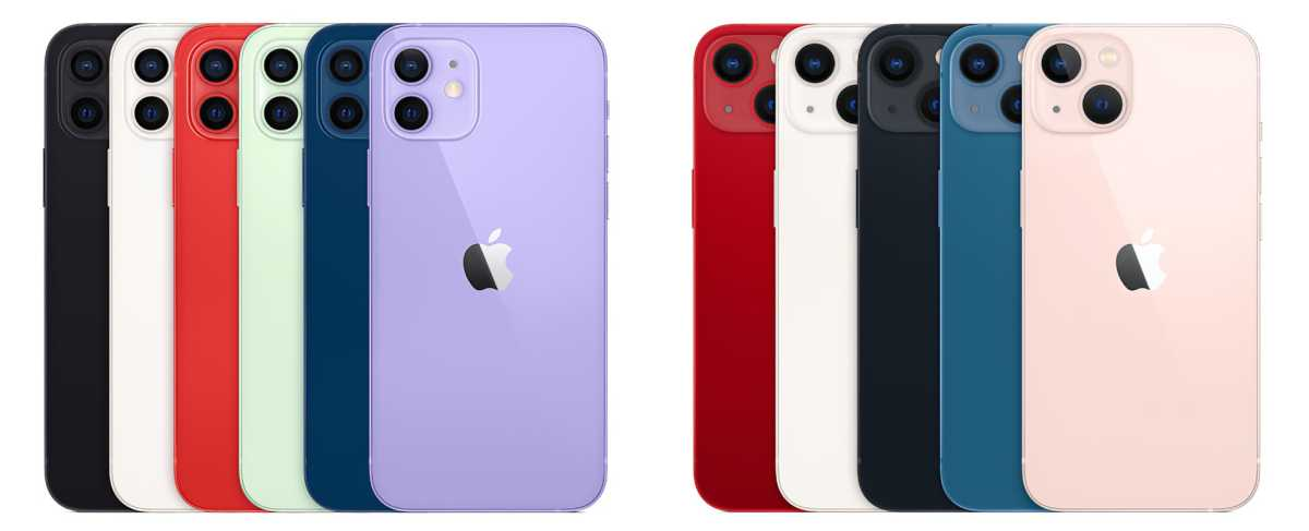 iPhone 12 iPhone 13 colors