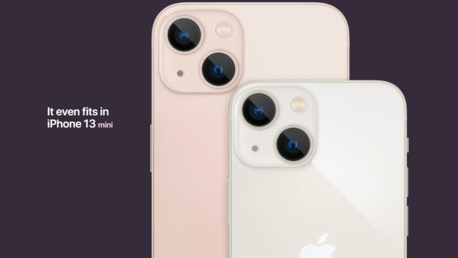 iPhone 13 in pink and white