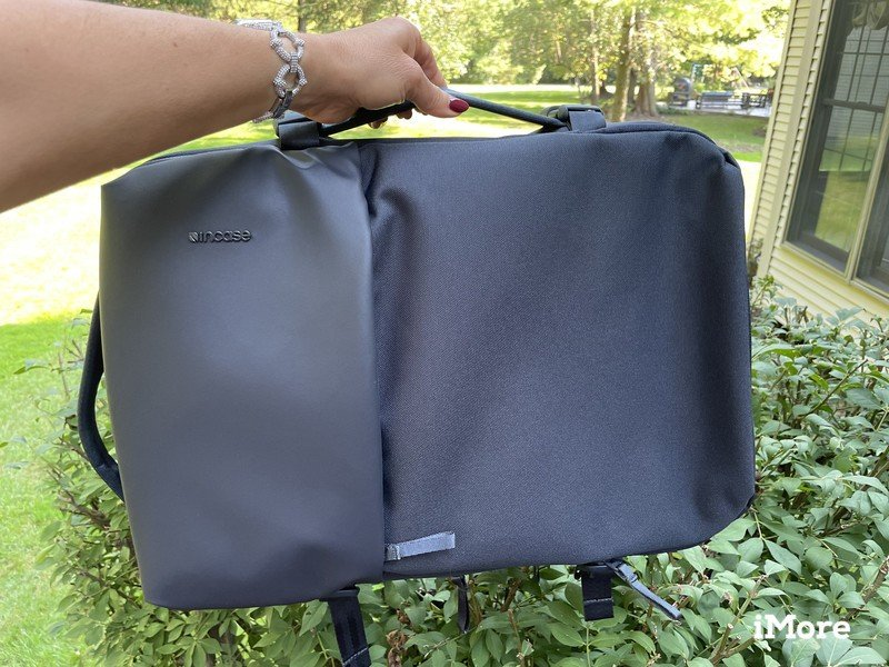 Incase Travel Pack Lifestyle Side Handle Front View