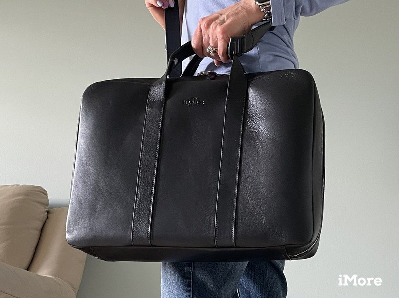 Harber London Laptop Briefcase Lifestyle