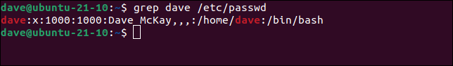 Using grep to search a text file