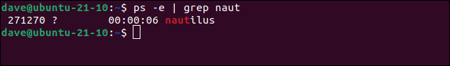 Piping the output of ps into grep