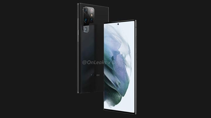 The Samsung Galaxy S22 Ultra leaks online via renders.
