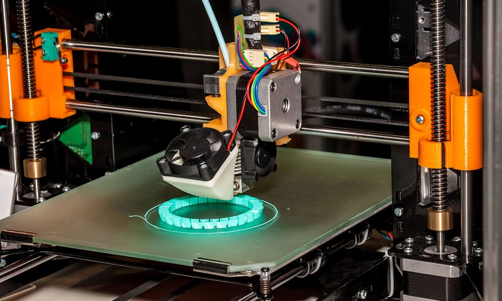 3d printer - oransje