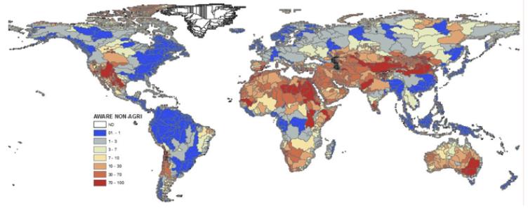 Vandforbrug og AWARE faktor
