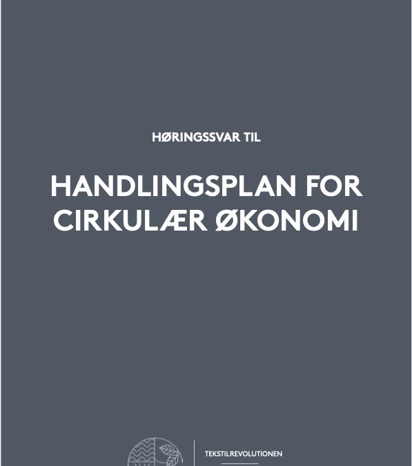 Høringssvar – Handlingsplan for Cirkulær Økonomi