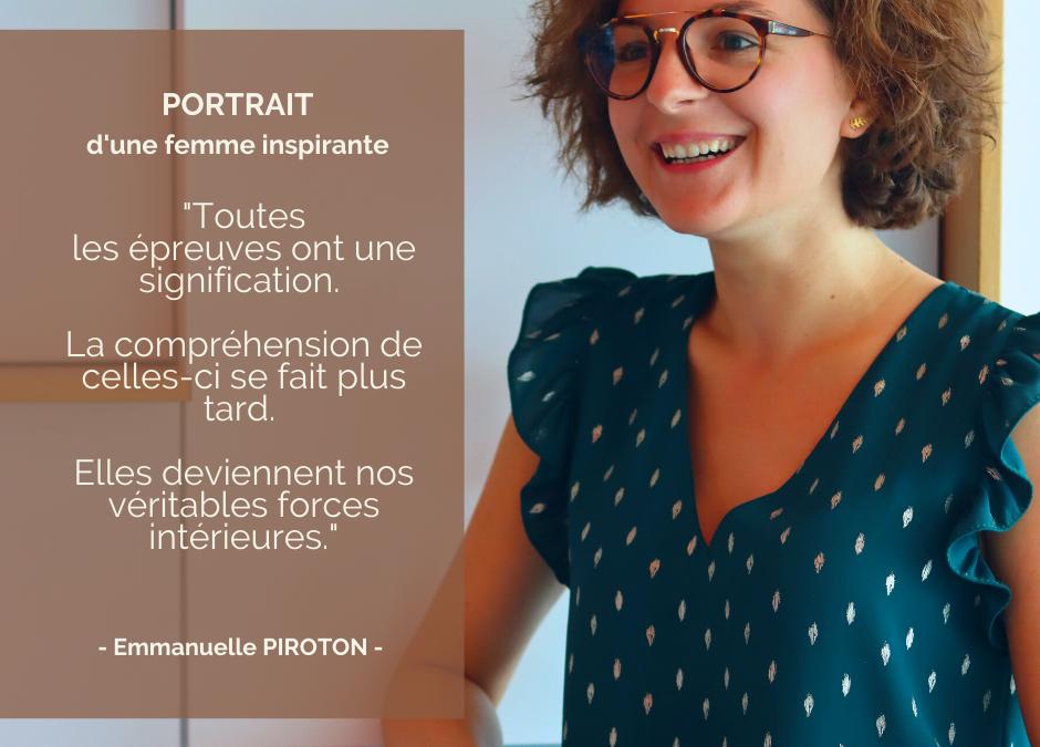 Portrait d'une femme inspirante : Emmanuelle PIROTON