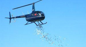 Denaro dall'elicottero