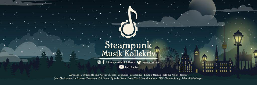 Header mit Logo des Steampunk Musik Kollektivs