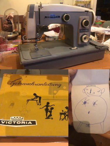 Collage: Victoria Vollzickzack, Gebrauchsanleitung, Kinderzeichnung