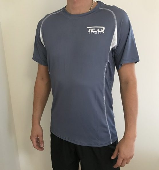 teq tränings t-shirt blå/grå