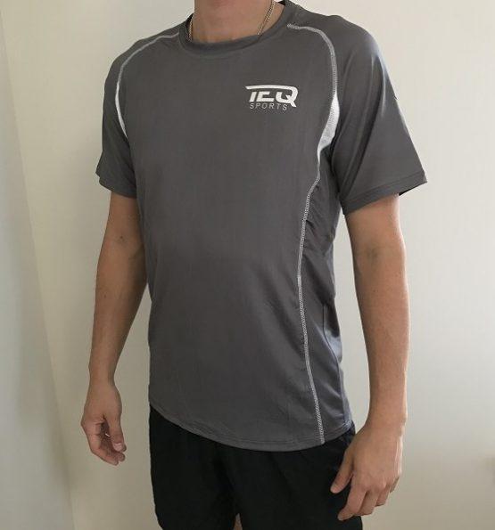 teq tränings t-shirt grå