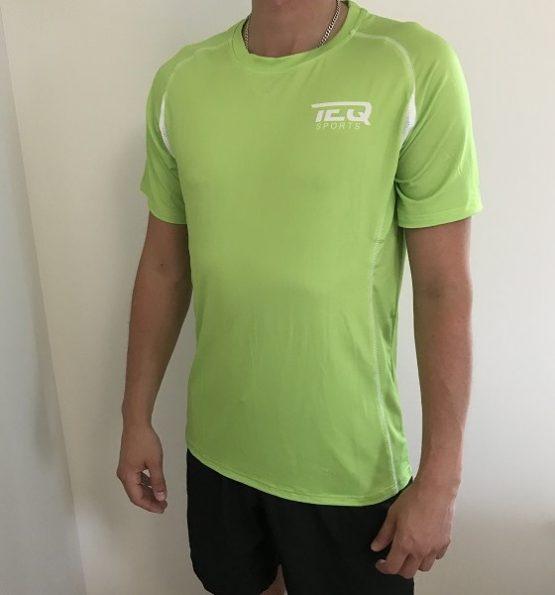 teq tränings t-shirt gul/grön