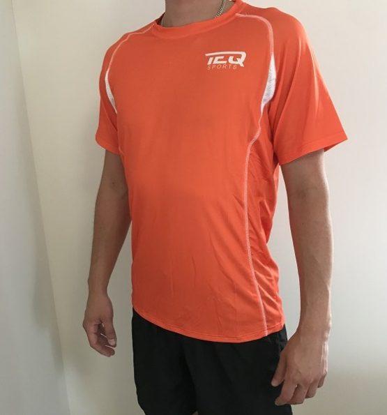 teq tränings t-shirt orange
