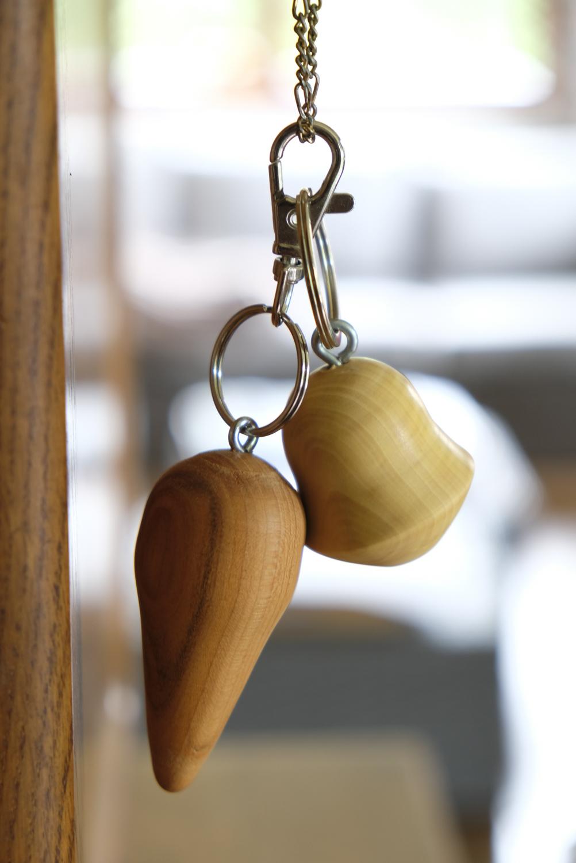 Porte-clé en bois tourné
