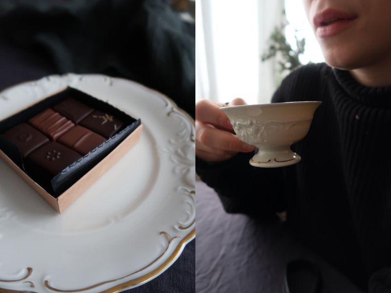 Loppisfyndat porslin och ljuvlig choklad