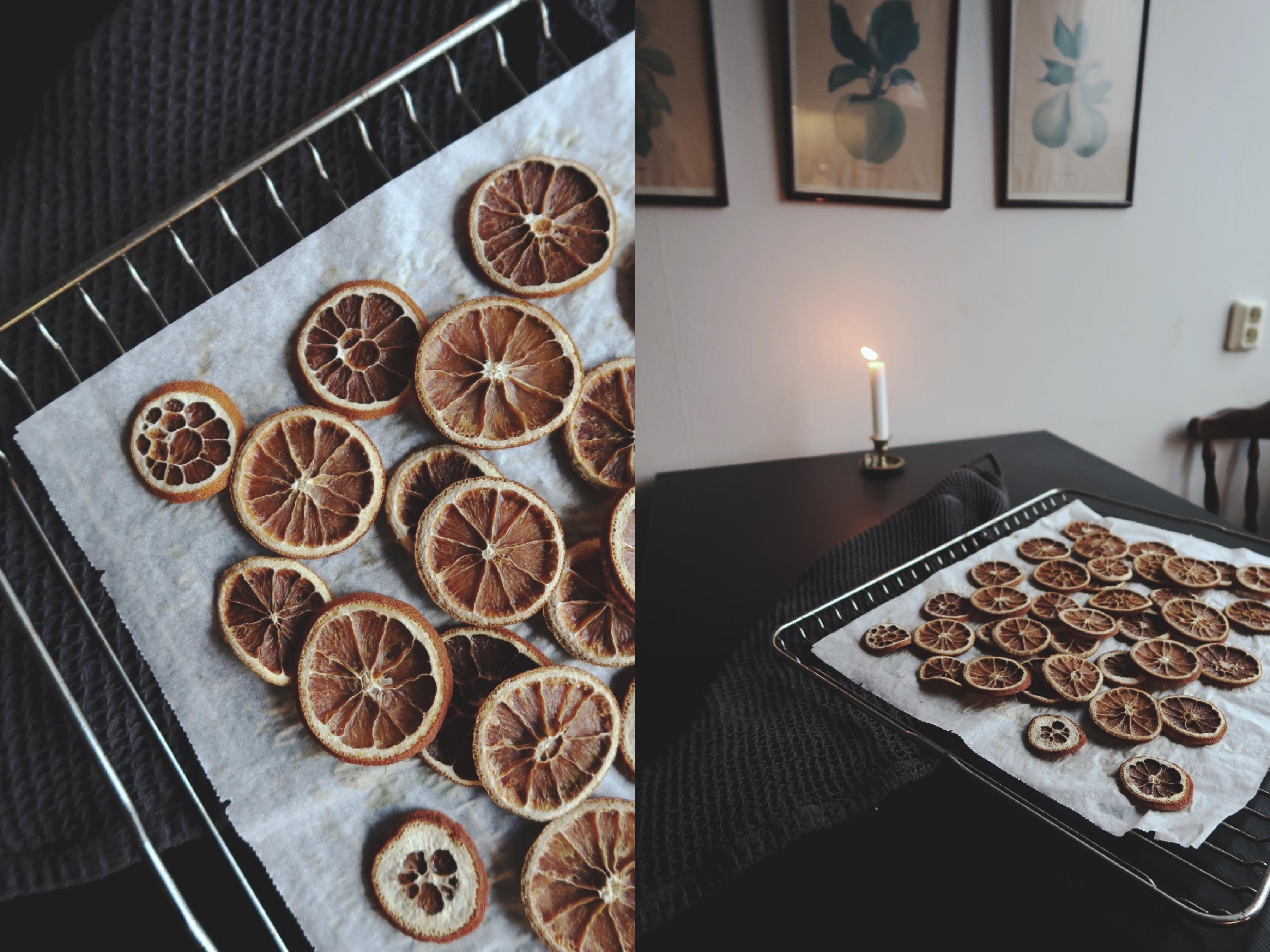 Torkade apelsinskivor fixar julstämningen
