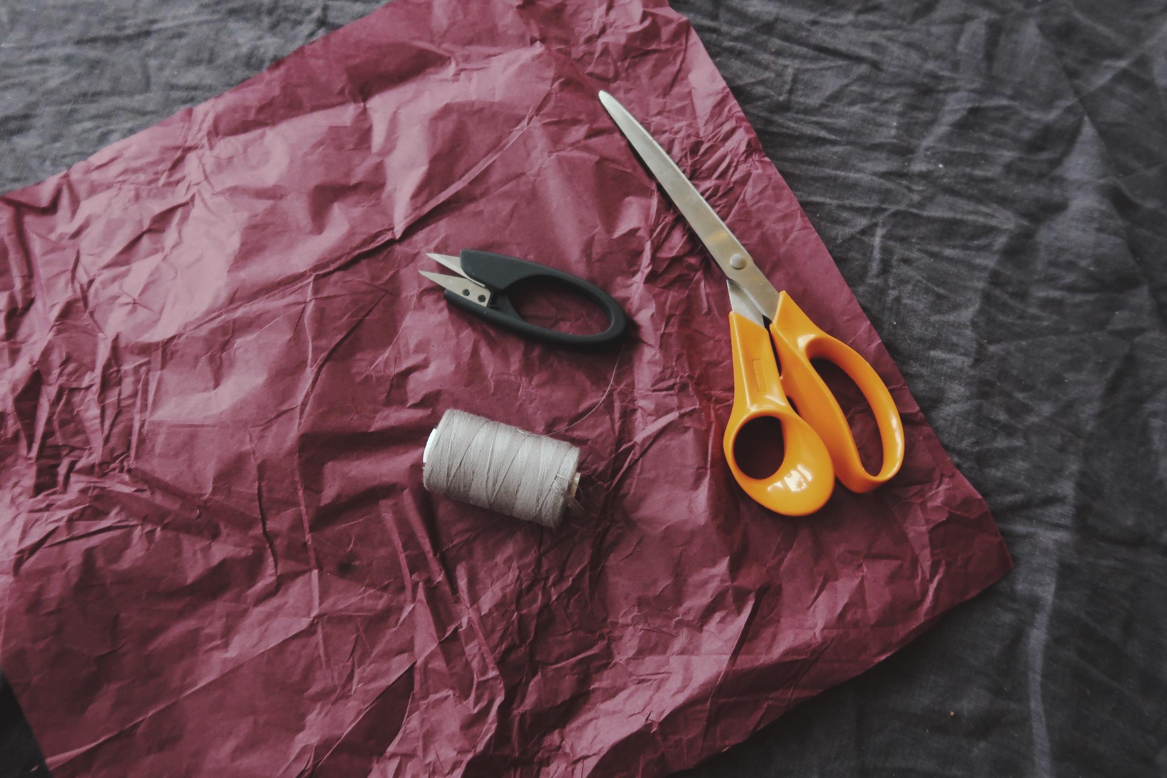 Pyssla med silkespapper