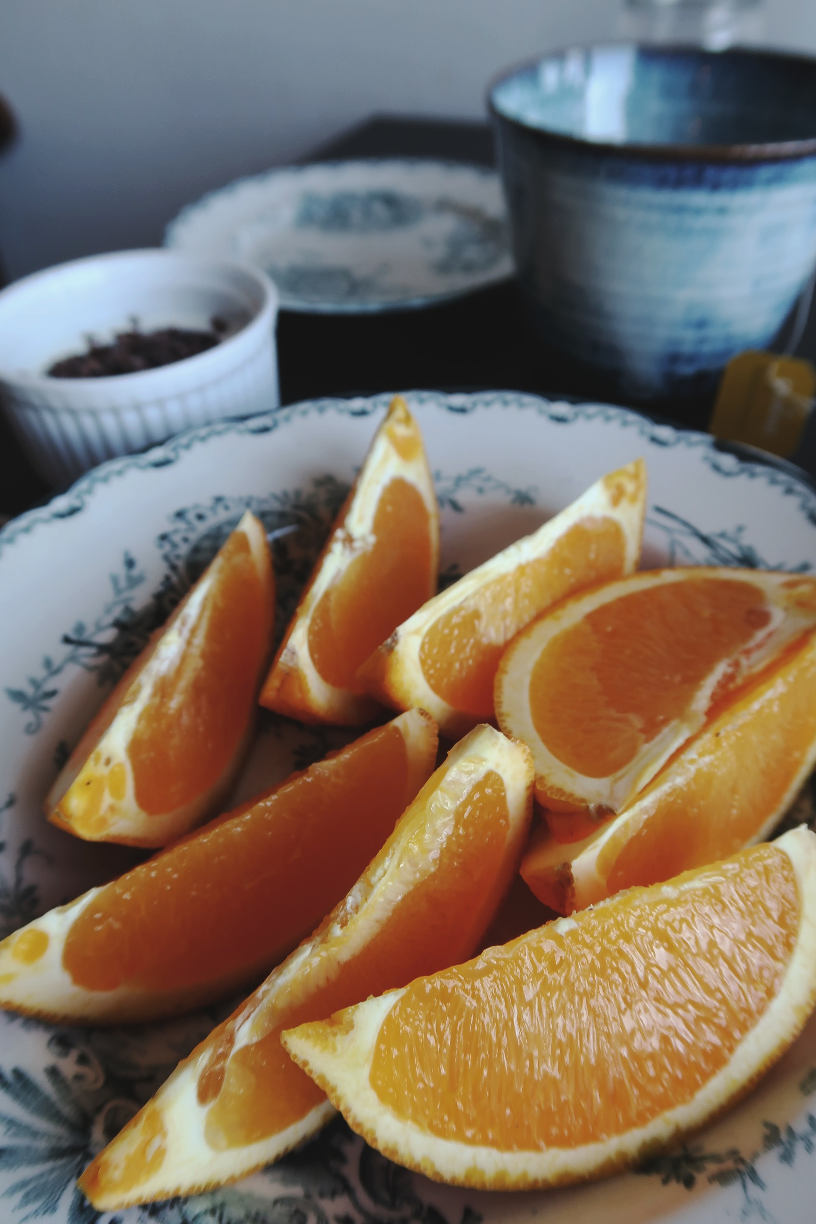 Ekologisk apelsin till frukost