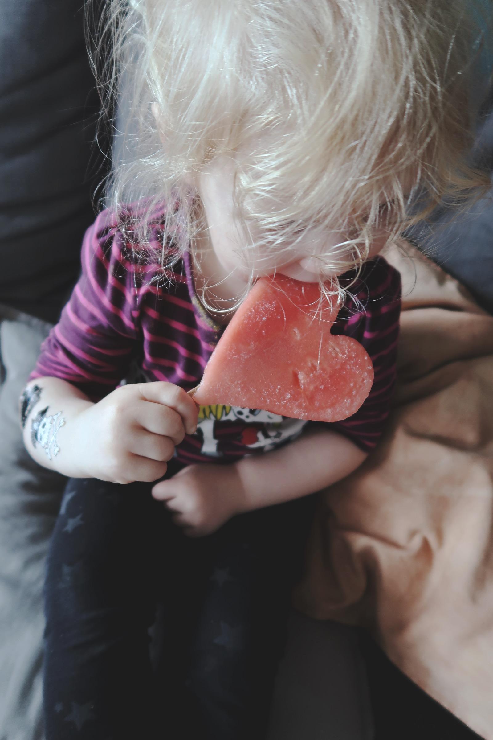 Vattenmelonsglassar till barnen