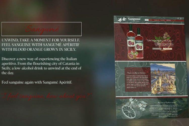 Social Visual Content Sangumé Apéritif Website