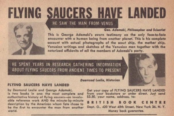 Announcement for Flying Saucers Have Landed, 1953