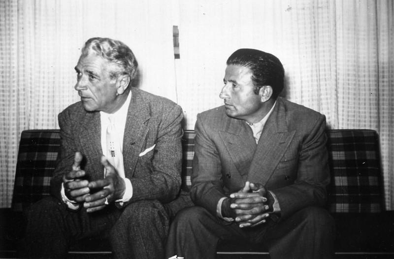 Adamski with Salvador Villanueva Medina in Mexico, 1954