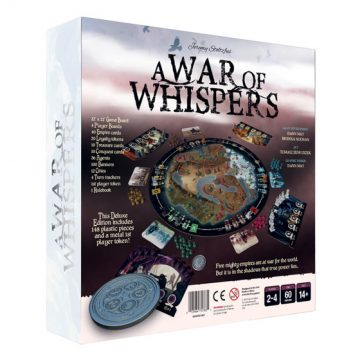 a war of whispers bordspel achterkant doos