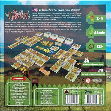 Fields of Green bordspel doos achterkant
