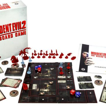 Resident Evil 2: The Board Game components