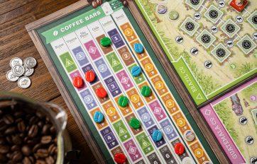 Coffee Traders bordspel close-up 1
