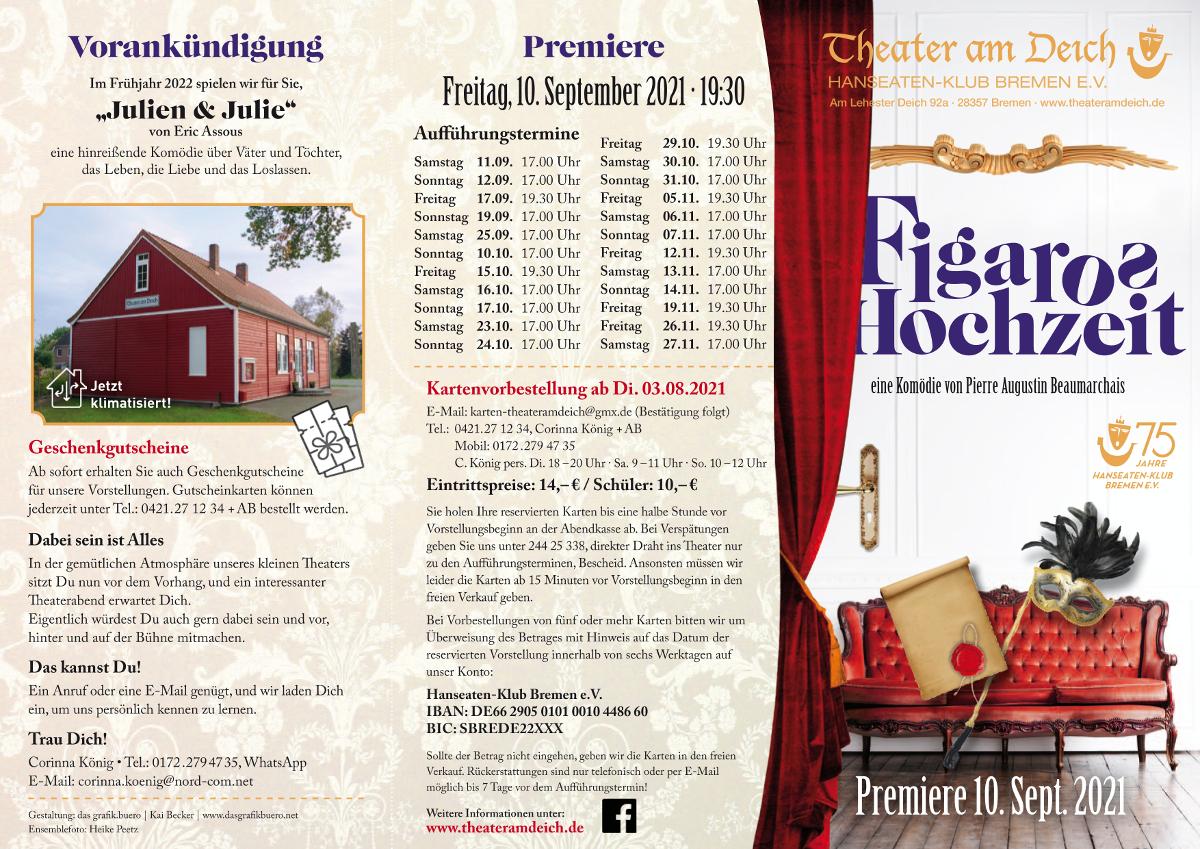 Figaro 2021 im Theater am Deich