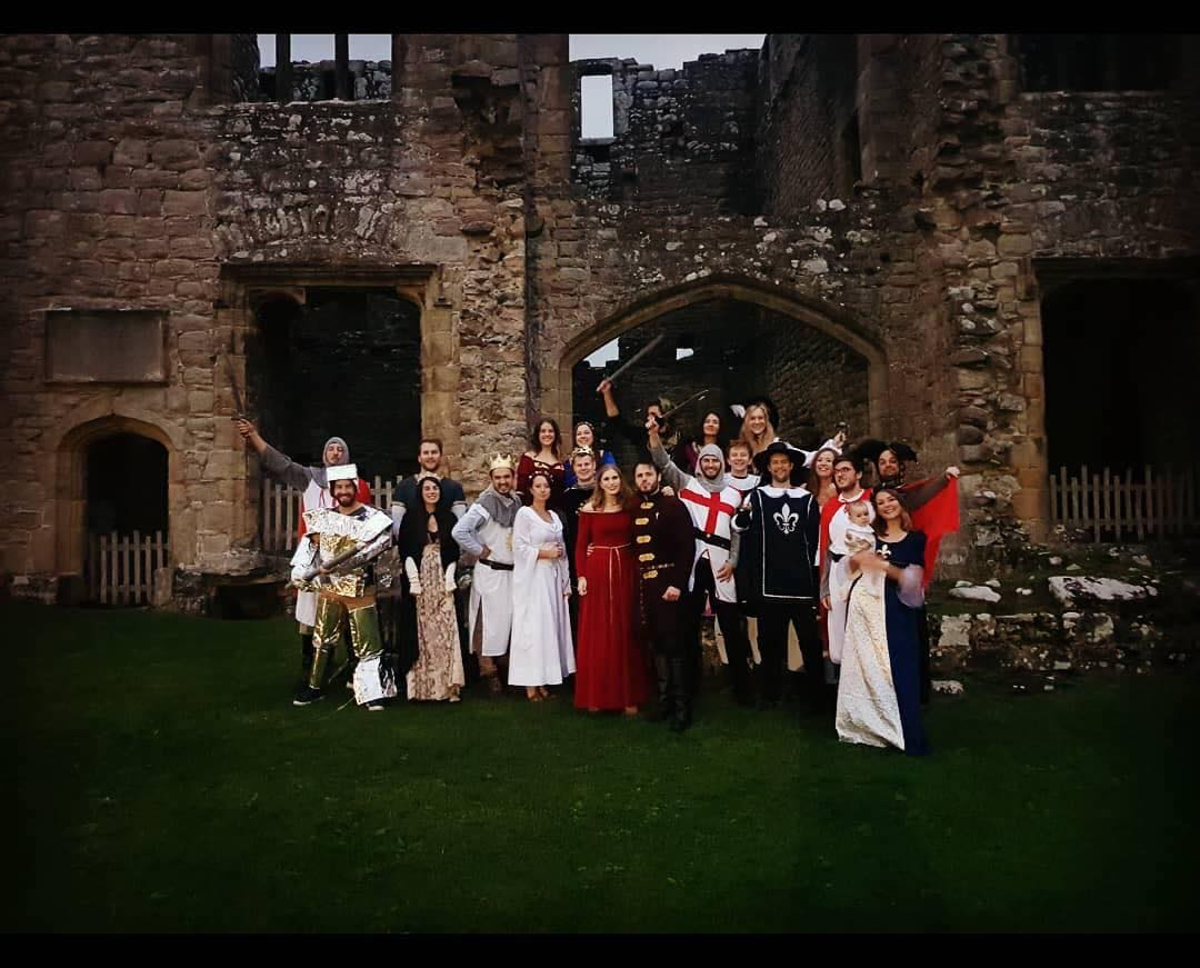 Group dressed in medieval outfits