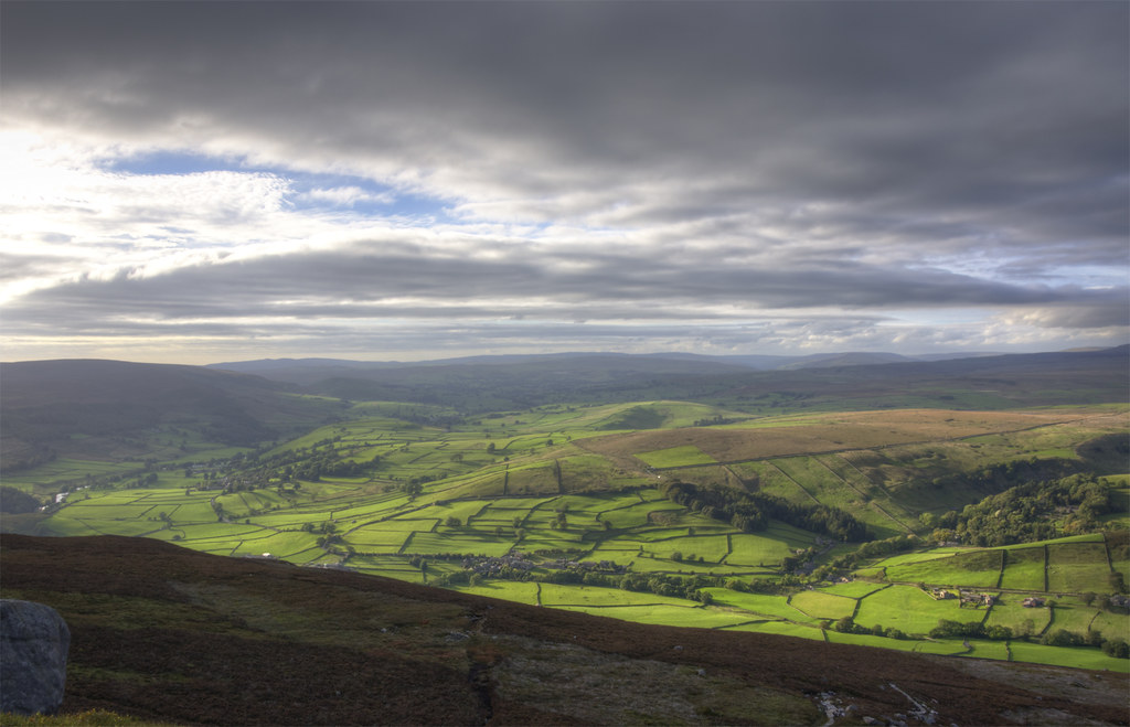 The view from Simon's Seat, Yorkshire