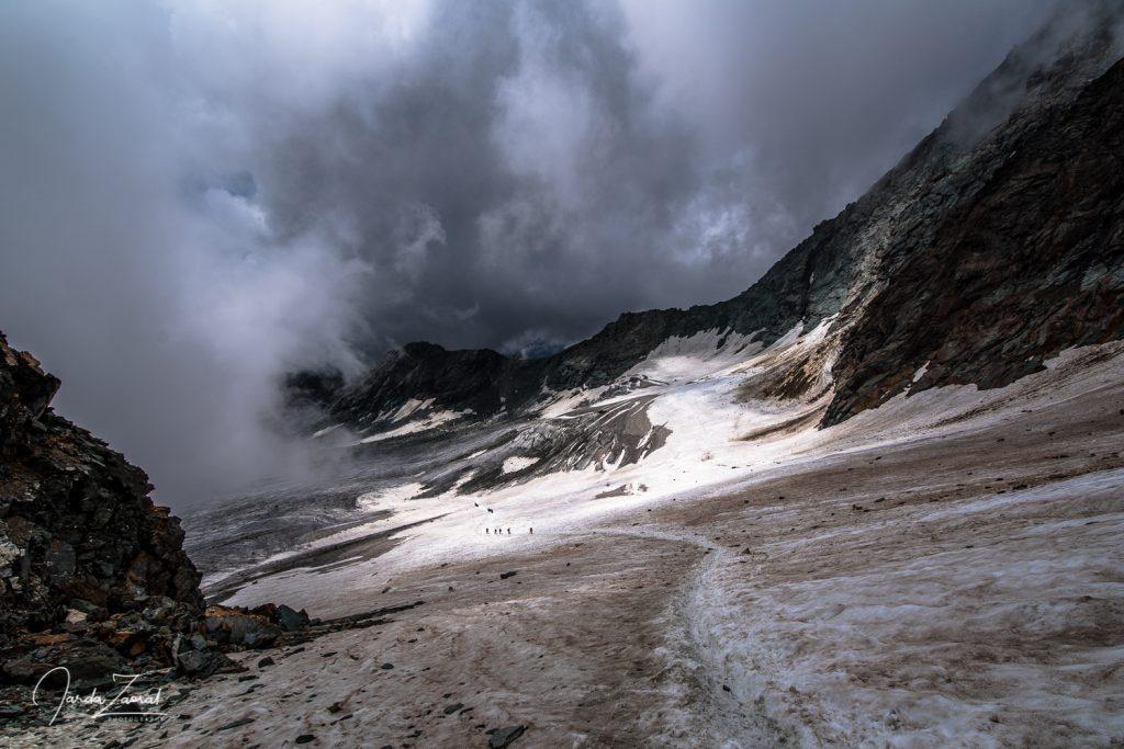 Quickly melting glacier under Grossglockner