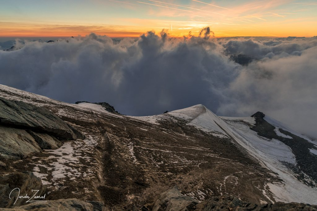 The view opened up only for a very short but beautiful moment on the way to Grossglockner